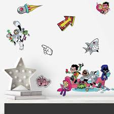 Teen Titans Go Peel And Stick Wall Decals Roommates Decor