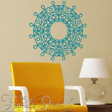 Mandala Vinyl Wall Decal Painted Vinyl Mandala Stencil Patterns Removable Decals