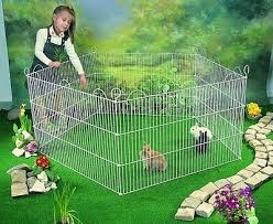Large Playpen Run Gerbils Rabbits Small Pet Metal Cage Guinea Fence Panel Garden Ebay