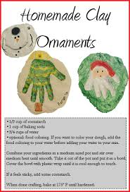 homemade clay ornaments great for