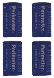 Four Pack Perimeter Pet Fencing Collar Replacement Batteries