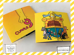 Tarjetas Invitacion Solapa Evento Los Simpsons Homero Bart 371 00 En Mercado Libre