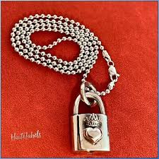 baby sterling silver 925 heart padlock