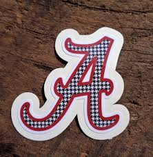 Alabama Vinyl Sticker Houndstooth A Phone Decal Laptop Etsy Vinyl Sticker Paper Phone Decals Alabama Christmas