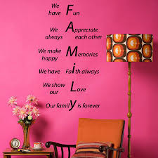 Family Forever Wall Decals Quote We Show Our Love Make Memories Vinyl Decal Sticker Home Art Mural Living Room Vinyl Wall Art Quote Stickers Wall Quotes Decals