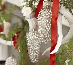 mercury glass pinecone ornaments or