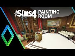 the sims 4 room build painting room