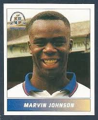 PANINI FOOTBALL LEAGUE 1996- #130-LUTON TOWN-MARVIN JOHNSON | eBay