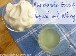 yogurt into homemade greek yogurt and whey