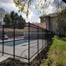 China Professional Manufacturer Supply Security Garden Wrought Iron Gate And Fence Swimming Pool Fence Cheap Wrought Iron Fence New Design China Fence Steel Fence