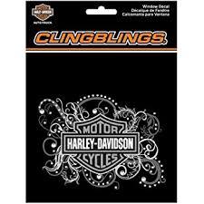Amazon Com Harley Davidson Bar Shield Filigree Cling Bling Silver Window Decal Cg1120 Harley Davidson Automotive