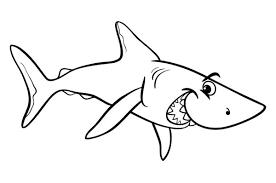 Tranh cho bé tô màu con cá mập 6 « in hình này