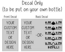 Water Tracker Decal Etsy