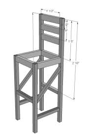 bar stool blueprint diy furniture