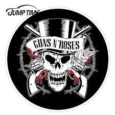 Jumptime 13cm X 13cm Guns N Roses Skull Car Stickers Decal Vinyl Bumper Window Decals External Vinyl Fuel Tank Cap Car Sticker Car Stickers Aliexpress