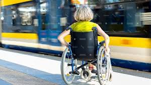 Image result for travelling by train in a wheelchair