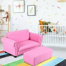 Kids Double Sofa With Ottoman Sofas Furniture