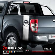 2x Rebel Alliance Stripes Fender Set Star Wars Dark Side Car Vinyl Sticker Decal Ebay