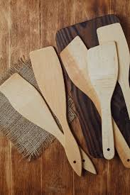 wooden spoons and spatula for cooking ...