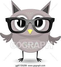 vector cartoon little owl bird isolated