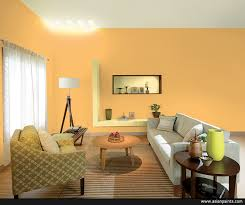 yellow living room paint