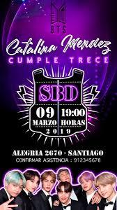 Invitacion Cumpleanos Bts Digital 2 000 En Mercado Libre