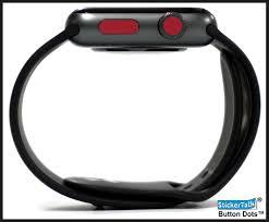 24x Maroon Apple Watch Crown Button Dots Stickertalk