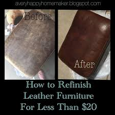 refinish leather furniture for less