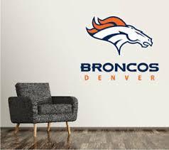 Denver Broncos Wall Decal Logo Football Nfl Custom Decor Sticker Vinyl Sr94 Ebay