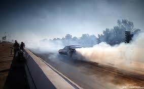 race car drag strip smoke hd wallpaper