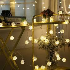 Creative Rattan Takraw Lights 10m 38 Led String Lights Garlands Villa Fence Beach Bar Wedding Christmas Party Decorations Buy String Light Led String Light Party Led String Light Product On Alibaba Com