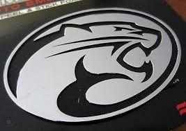 New Uh Cougars Logo Chrome Metal Auto Emblem University Of Houston Car Decal 1724246448