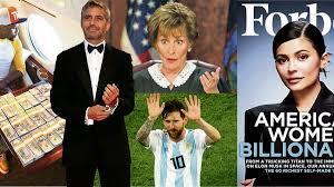 Forbes Celebrity 100 rich list reveals ...
