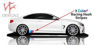 Bmw M Color 3 Stripe Decal For Side Skirt Vinyl Decal Sticker Etsy