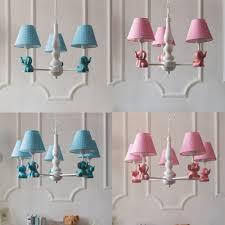 Elephant Design Suspension Light With Blue Pink Fabric Shade Boys Girls Room 3 5 Light Chandelier Light Beautifulhalo Com