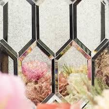 paris gray hexagon polished glass tile