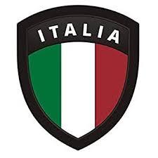 Amazon Com Italia Flag Shield 3 Decal Italian Italy Motorcycle Gloss Vinyl Sticker Automotive
