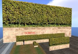 Second Life Marketplace Awesome Block Wall And Hedge Bush Fence Privacy Screen Builders Kit 9145
