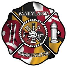 Maryland Firefighter Window Decal Police Fire Ems Viny Graphics Stickers Decals Dkedecals