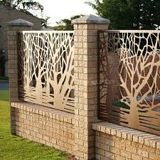 decorative metal garden fencing panels