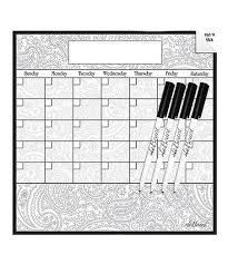 Ala Board Paisley Dry Erase Monthly Calendar Wall Decal Dry Erase Marker Set Best Price And Reviews Zulily
