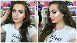 glitter glam prom makeup tutorial 2016