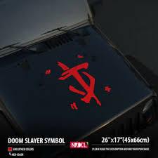 26 Doom Slayer Symbol Logo Hood Car Vinyl Sticker Decal Ebay