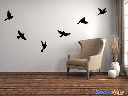 Flying Birds Silhouette Vinyl Wall Decal Graphic