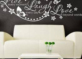 Vinyl Stickers Dance Love Sing Live Wall Decal Quotes Ball Room Mural Art Decor