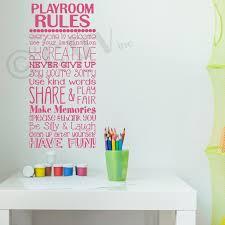 Playroom Rules Vinyl Lettering Wall Decal Sticker 12 5 W X 27 H Dark Pink Walmart Com Walmart Com