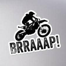Sticker Brraaap Funny Dirt Bike Motocross Decal For Riders Car Bumper In 2020 Motocross Decals Car Bumper Dirt Bike