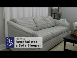 how to reupholster a sofa sleeper