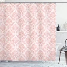 lunarable blush shower curtain
