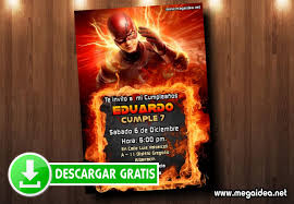 Invitaciones Flash Cumpleanos Mega Idea